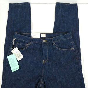 Women's High Rise Stretch Skinny Blue Jeans Sz 6